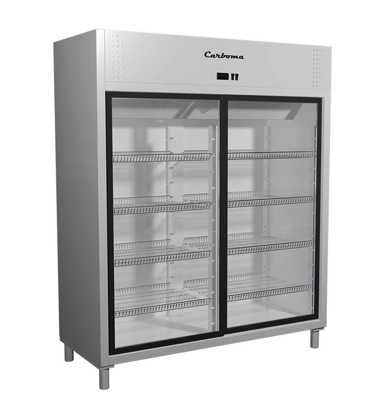 Шкаф холодильный Полюс Carboma R1400К INOX