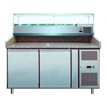 Стол холодильный с витриной Cooleq PZ 2600TN-VRX 1500/380