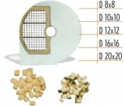Диск для овощерезки Celme D 20x20 SX, кубик 20х20 мм.