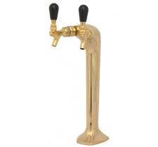 Пивная колонна тип кобра на 2 сорта золото Lucky